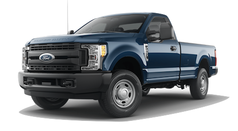 A blue Jeans 2019 Ford F-250 XL on a transparent background
