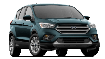 A green 2019 Ford Escape on a transparent background