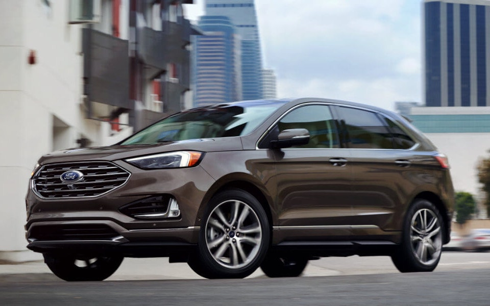 2019 Ford Edge brown on street