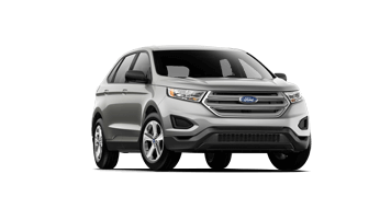 A silver 2018 Ford Edge on a transparent background