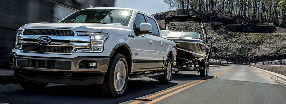 2019 Ford F-150 towing boat