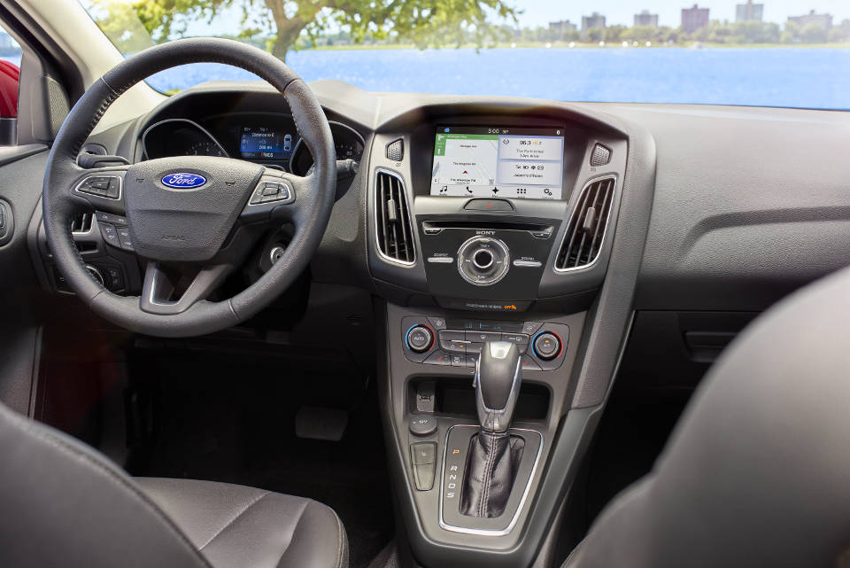 Interior of a 2018 Ford Focus