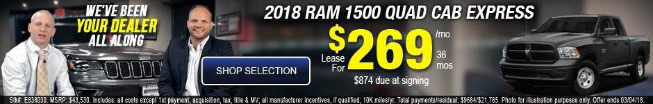 New 2018 Ram 1500 Quad Cab Express