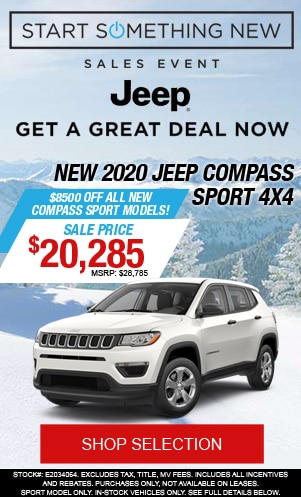 New 2020 Jeep Compass Sport 4x4
