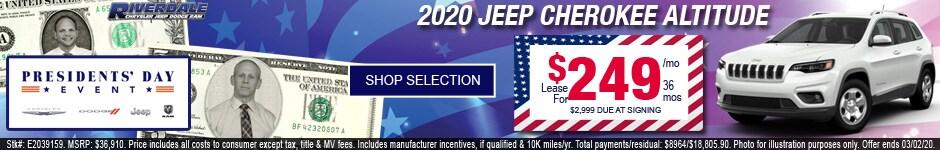 New 2020 Jeep Cherokee Altitude
