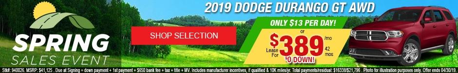 New 2019 Dodge Durango GT AWD