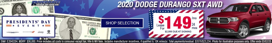 New 2020 Dodge Durango SXT AWD