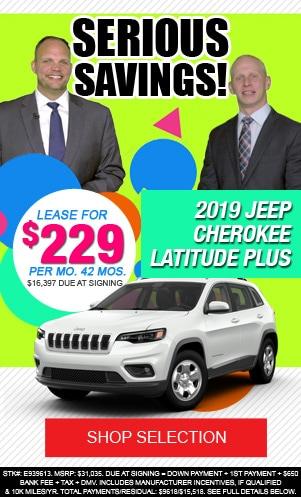 New 2019 Jeep Cherokee Latitude Plus