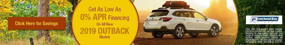 2019 Outback Financing Offer - September