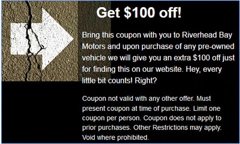 $100 Off Pre-Owned Vehicles Online
