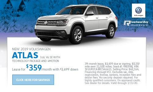 New 2019 Volkswagen Atlas 3.6L V6 SE with Technology Package and 4MOTION