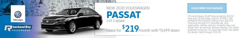 New 2020 Volkswagen Passat 2.0T S Sedan