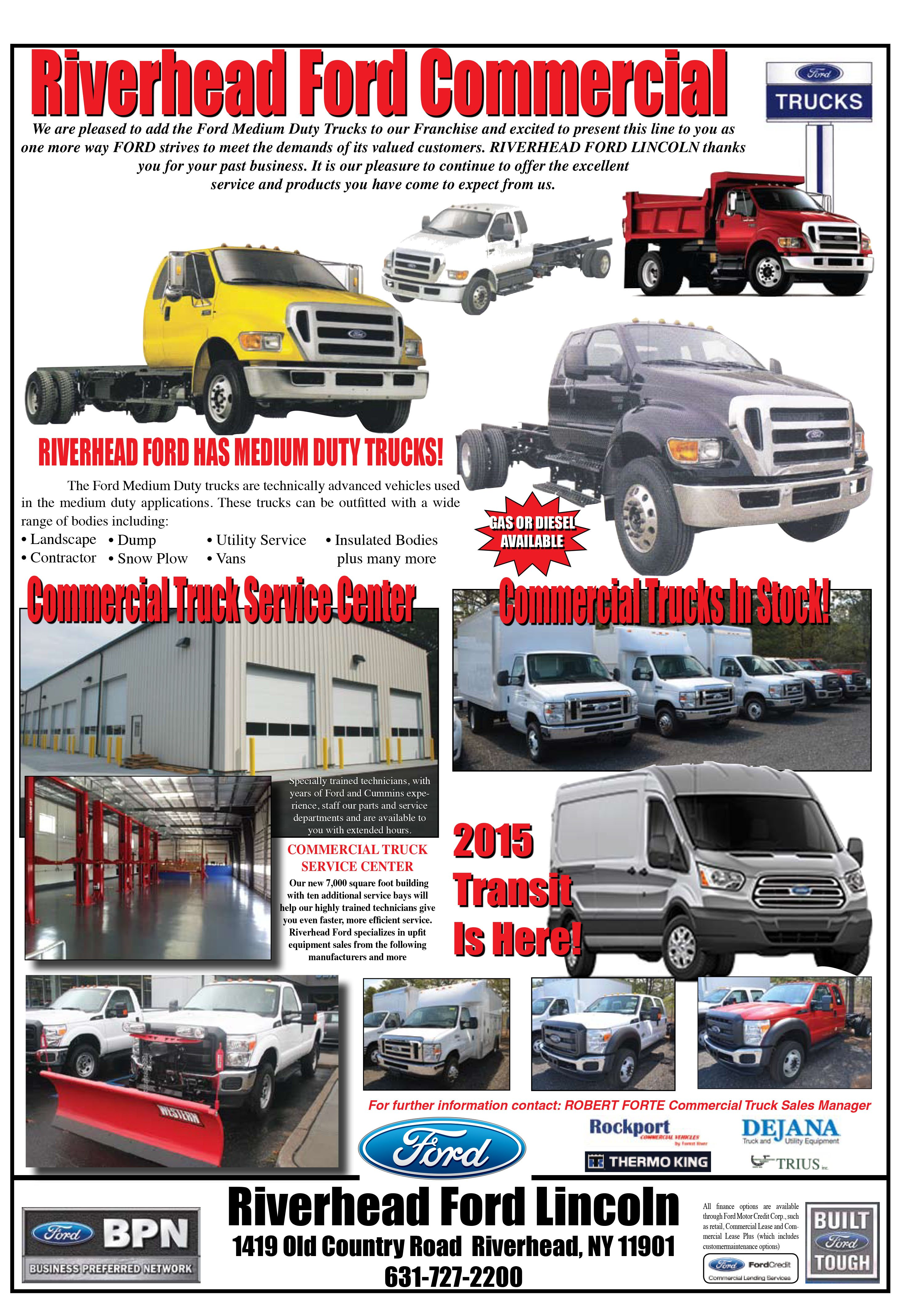 Riverhead Ford Lincoln   Commercial Truck Service Center   Ford ...