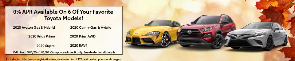 0% APR Offer On Your Favorite Toyota Models!