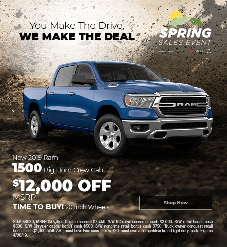 April 2019 Ram 1500 Big Horn Crew Cab
