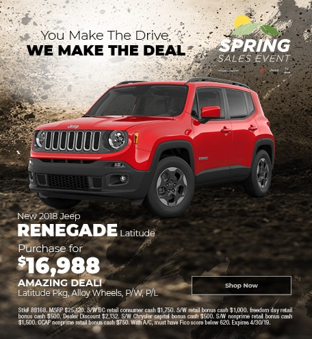 April 2019 2018 Jeep Renegade Latitude