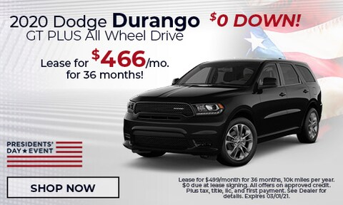 2020 Dodge Durango GT PLUS All Wheel Drive - February