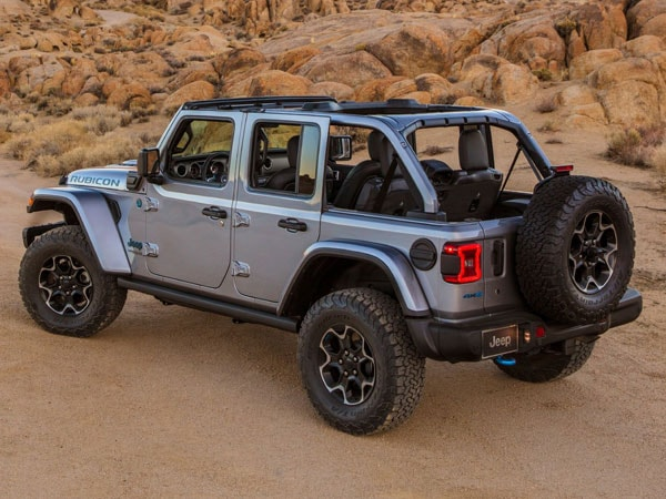 2021 Jeep Wrangler 4xe Plug-In Hybrid Rear Angle