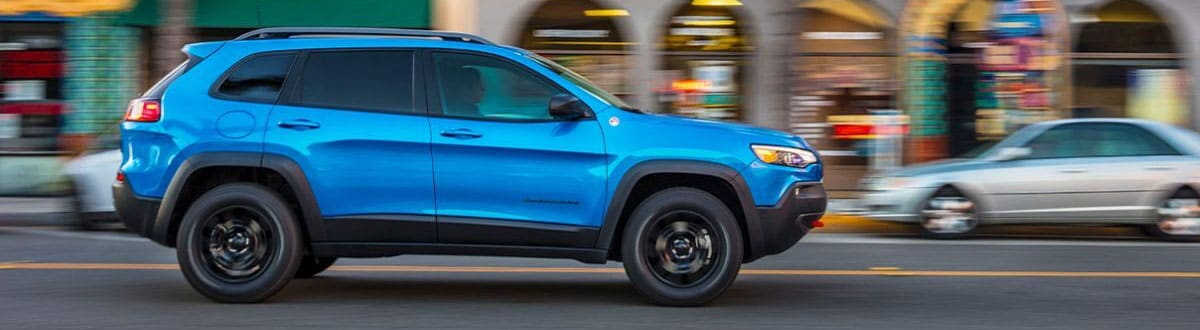 Blue 2020 Jeep Cherokee