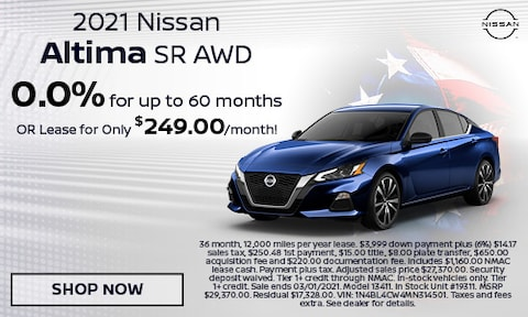 2021 Nissan Altima SR AWD - February