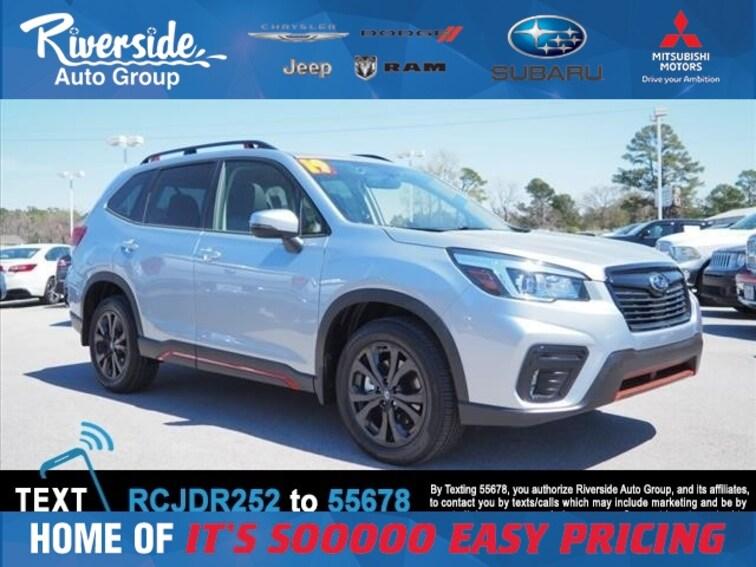 New 2019 Subaru Forester Sport SUV for sale in New Bern, NC at Riverside Subaru
