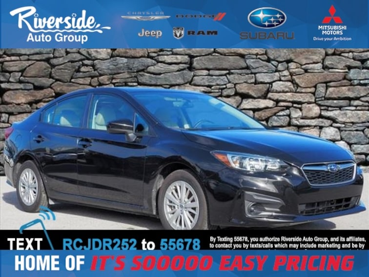 Used 2017 Subaru Impreza 2.0i Premium Sedan for sale in New Bern, NC at Riverside Subaru