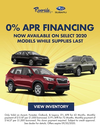 0% APR Financing for 63 months or 0.9% for 72 months While Supplies Last!