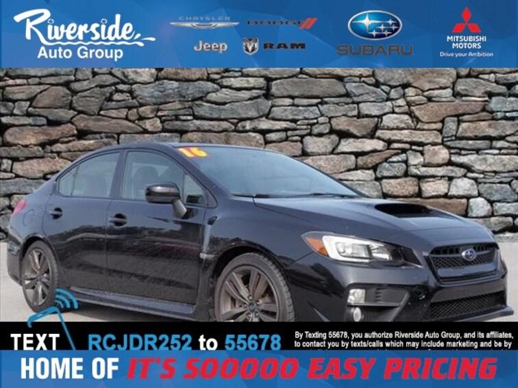 Certified 2016 Subaru WRX Limited Sedan for sale in New Bern, NC at Riverside Subaru