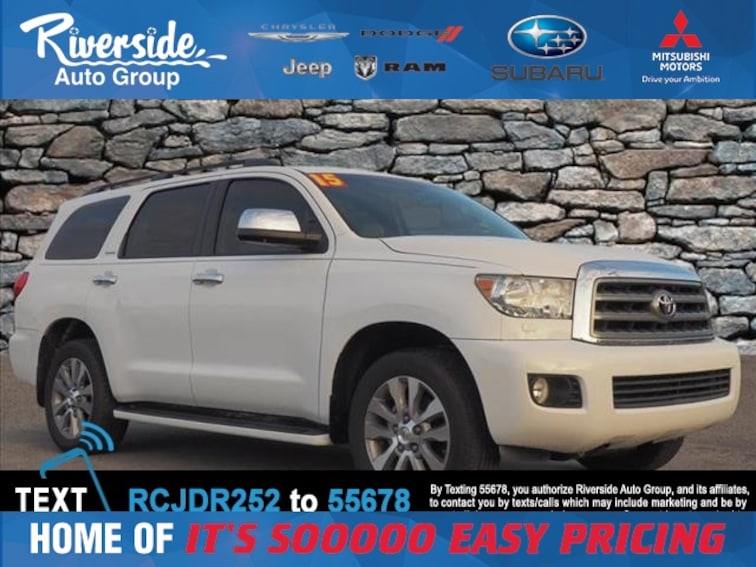 Used 2015 Toyota Sequoia Limited SUV for sale in New Bern, NC at Riverside Subaru