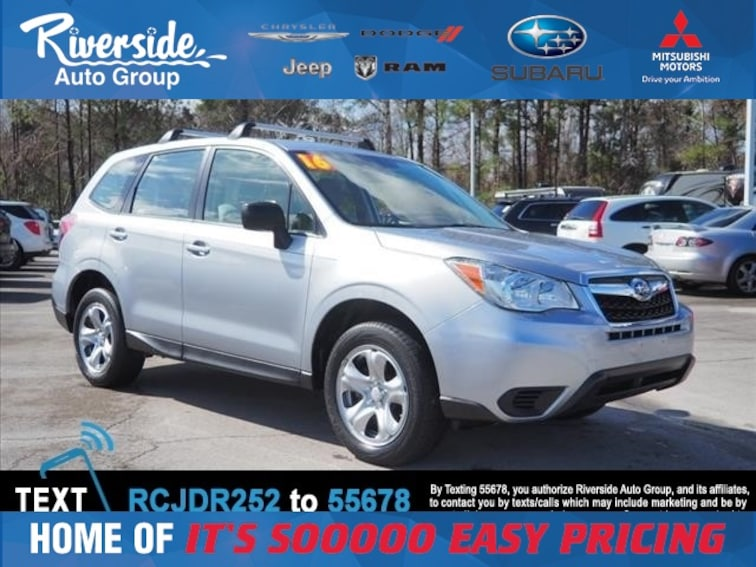Certified 2016 Subaru Forester 2.5i SUV for sale in New Bern, NC at Riverside Subaru