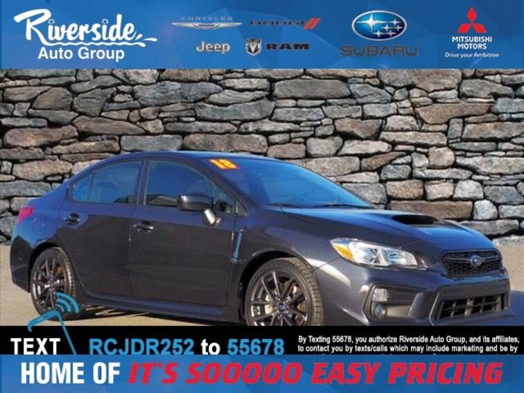 Certified 2018 Subaru WRX Premium Sedan for sale in New Bern, NC at Riverside Subaru