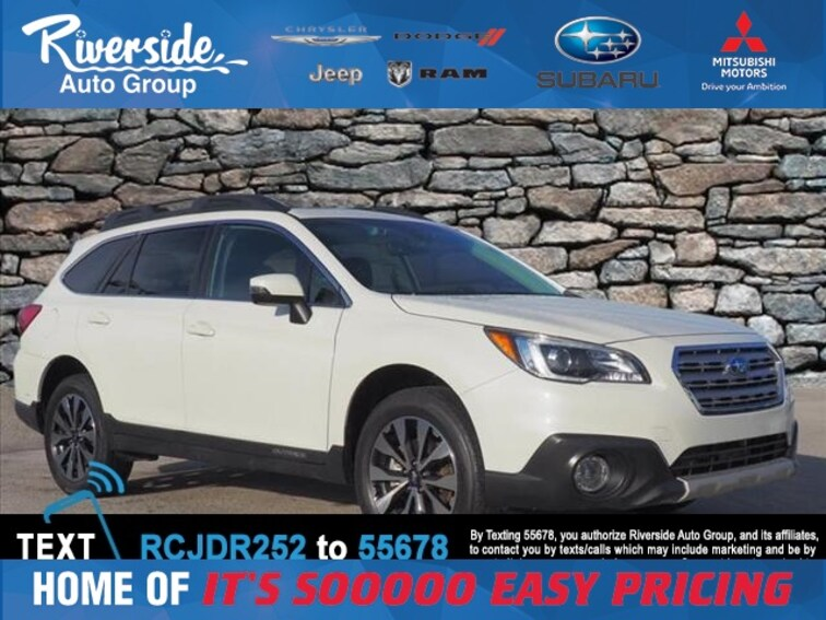 Used 2017 Subaru Outback 3.6R SUV for sale in New Bern, NC at Riverside Subaru