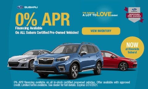 0% APR Financing Available CPO - March