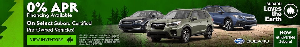 0% APR Financing Available on PreOwned - April