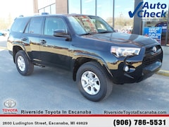 New 2019 Toyota 4Runner SR5 SUV JTEBU5JR9K5649014 near Escanaba, MI