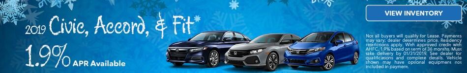 New Honda Civic, Accord, & Fit