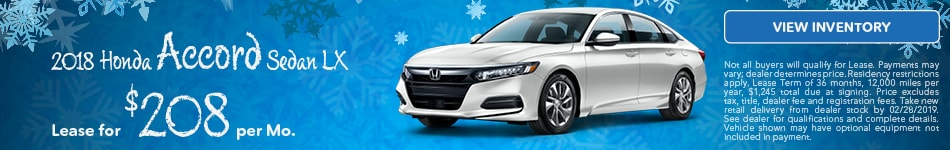 Lease 2018 Accord 2/19