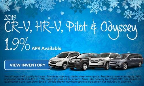 2019 CR-V, HR-V, Pilot & Odyssey APR 2/5