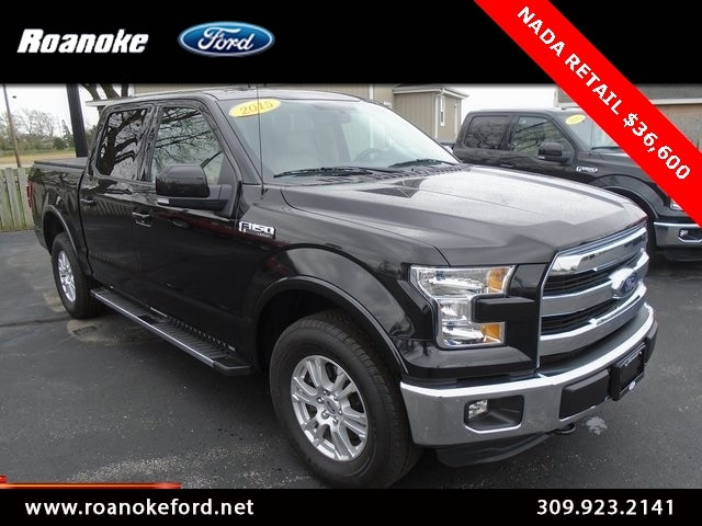 2015 Ford F-150 Lariat Supercrew 4x4 Crew Cab Long Bed Truck