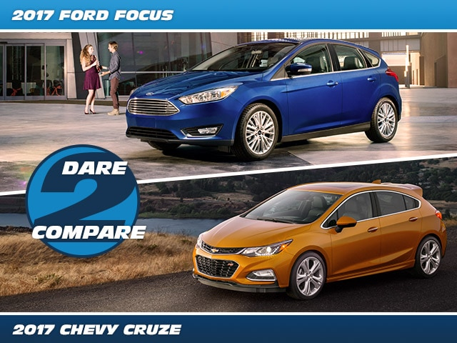 Compare the Ford Focus to the Chevrolet Cruze
