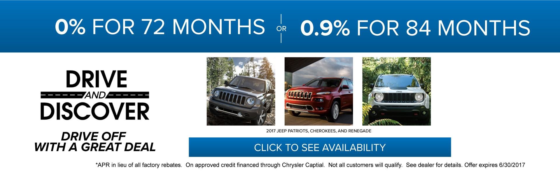 Drive and Discover - Limited Time Special APR Offers!