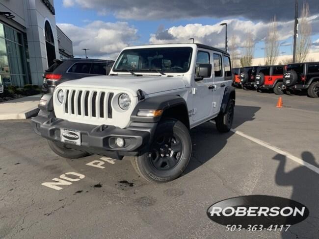 New 2019 Jeep Wrangler UNLIMITED SPORT 4X4 Sport Utility in Salem, OR