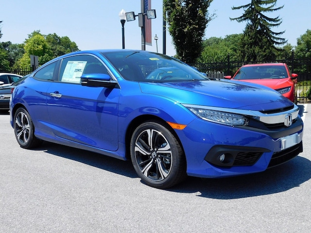 New 2018 Honda Civic Touring CVT Aegean Blue Metallic For