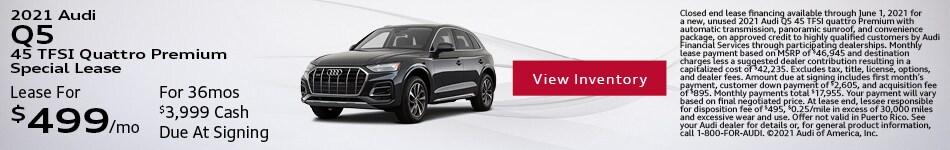 2021 Audi Q5 45 TFSI Quattro Premium Special Lease May