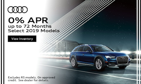 0% APR up to 72 Months Select 2019 Models