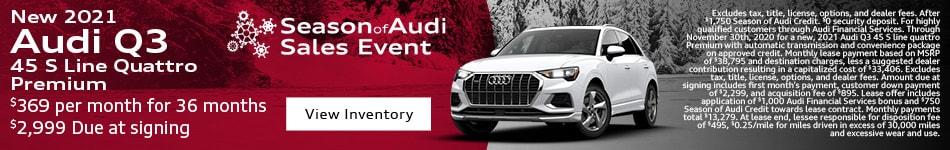 New 2021 Audi Q3 45 S Line Quattro Premium