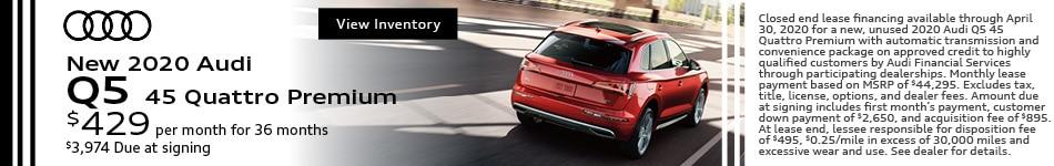 New 2020 Audi Q5 45 Quattro Premium