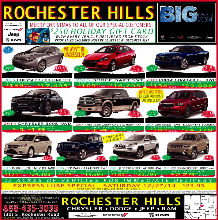 Rochester Hills Chrysler Jeep Used Cars