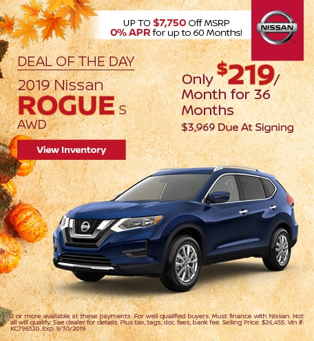 Deal Of The Day 2019 Nissan Rogue S AWD