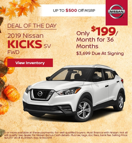 Deal Of The Day 2019 Nissan Kicks SV FWD